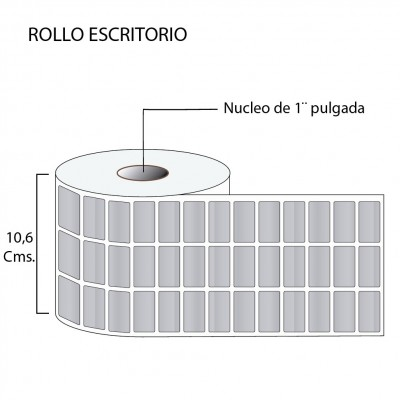 Etiqueta Poliéster Plata Mate 32X15