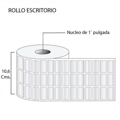 Etiqueta con película de polipropileno  32X15