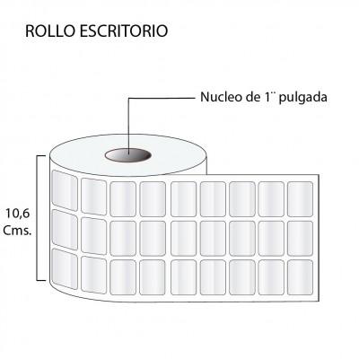 Etiqueta con película de polipropileno 32X25