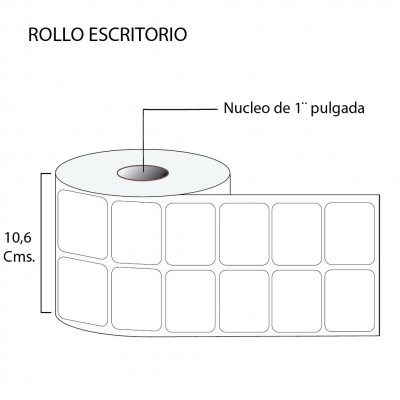 Etiqueta térmica premium 50X40